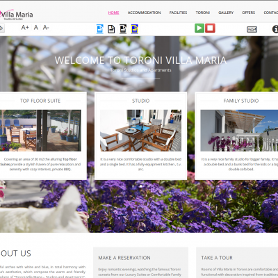 toroni-villamaria.com - Wordpress - Web page suitable and accessible to people with disabilities - WCAG comformance